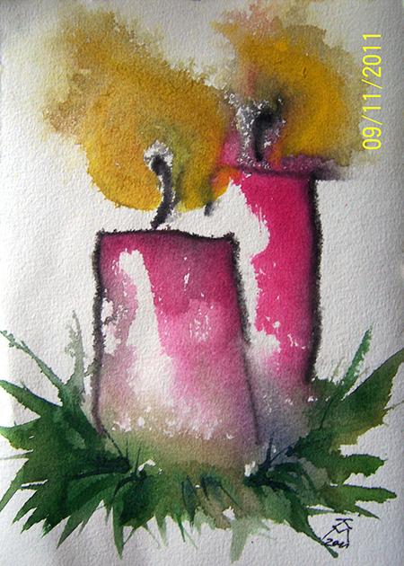 Malerportrait karin mersmann - Aquarell weihnachten ...